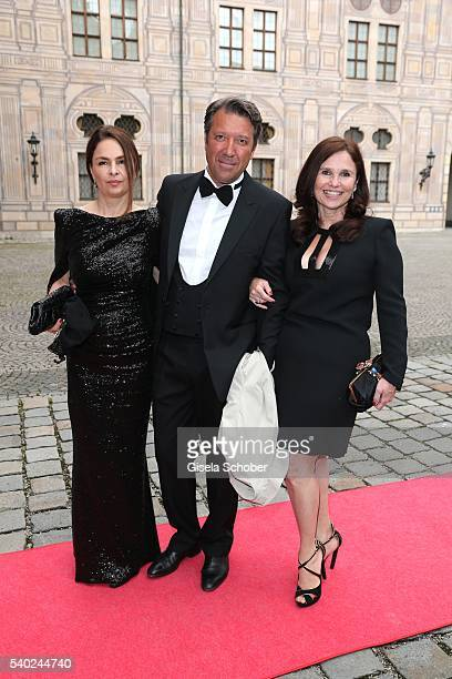 Judith Epstein and guests during a charity dinner hosted by AMADE Deutschland and Roland Berger Foundation at Kaisersaal der Residenz der Bayerischen...