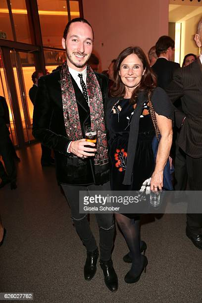 Judith Epstein and her son Niklas Epstein during the PIN Party Let's party 4 art' at Pinakothek der Moderne on November 26 2016 in Munich Germany