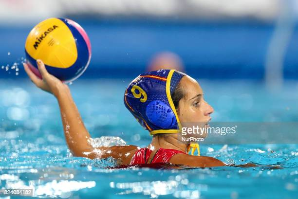 Judith Forca Ariza during the Women's Water Polo gold medal match between the United States and Spain on day fifteen of the Budapest 2017 FINA World...
