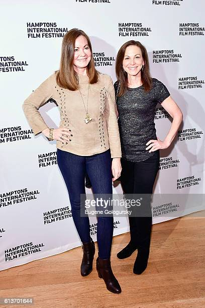 Judith Giuliani and Bettina Zilkha attend the Awards Dinner at the Hamptons International Film Festival 2016 at Topping Rose on October 9 2016 in...