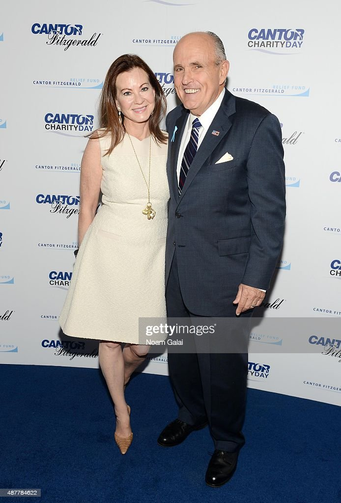 Judith Giuliani (L) and former Mayor of New York City Rudy Giuliani attend the annual Charity Day hosted by Cantor Fitzgerald and BGC at Cantor Fitzgerald on September 11, 2015 in New York City.