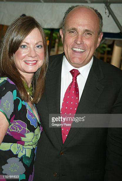 Judith Giuliani and Rudolph Giuliani during Sirio Maccioni The Story of My Life and Le Cirque Book Party at Le Cirque 2000 in New York City New York...