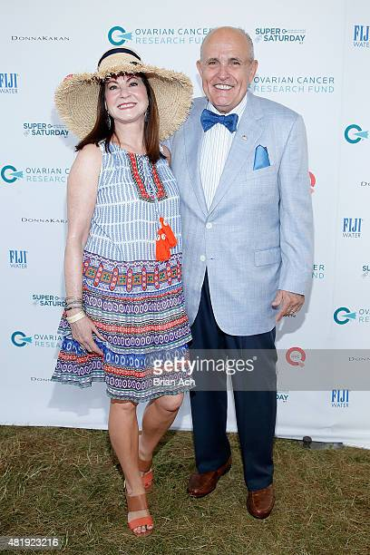 Judith Giuliani and Rudy Giuliani attend QVC Presents Super Saturday LIVE on July 25 2015 in Water Mill New York