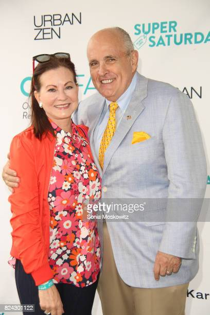 Judith Giuliani and Rudy Giuliani attend the 20th Annual Super Saturday to benefit the Ovarian Cancer Research Fund Alliance at Nova's Ark Project on...