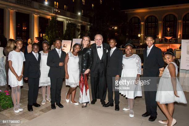 Judith Giuliani and Rudy Giuliani with Boys and Girls Club children attend Boys and Girls Clubs of Palm Beach County Celebrate the 36th Annual Winter...