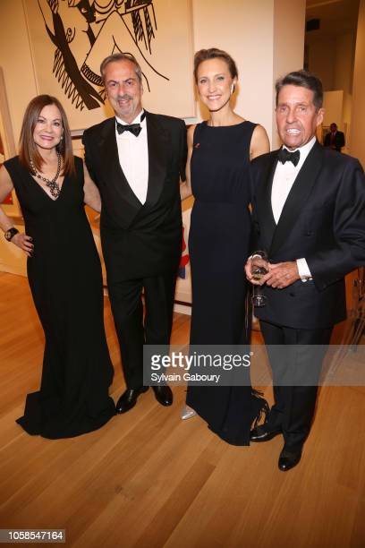 Judith Giuliani Carlo Traglio Kinga Lampert and Chris Meigher attend VHERNIER 20 Years Of Calla Dinner In Support Of BCRF at Sotheby's on October 17...