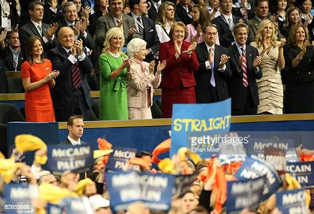 Judith Giuliani, Former New York City Mayor Rudy Giuliani, Cindy McCain, wife of Republican U.S presidential nominee U.S. Sen. John McCain , mother...