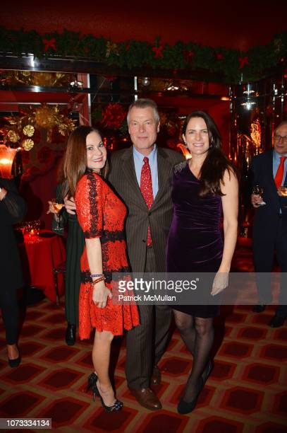 Judith Giuliani Richard Johnson and Sessa von Richthofen attend George Farias Anne Jay McInerney Host A Holiday Party at The Doubles Club on December...