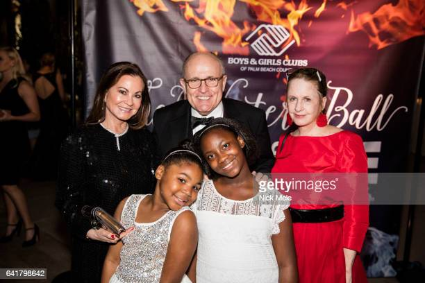 Judith Giuliani Rudy Giuliani and Gigi Mahon with Boys and Girls Club children attend Boys and Girls Clubs of Palm Beach County Celebrate the 36th...