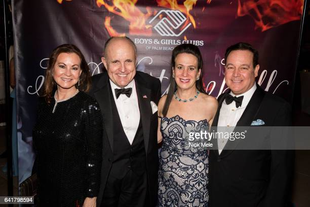 Judith Giuliani Rudy Giuliani Wally Turner and Betsy Turner attend Boys and Girls Clubs of Palm Beach County Celebrate the 36th Annual Winter Ball at...