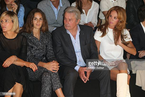 Judith Godreche Alexia Niedzielski Alain Delon and Rosalie van Breemen attend the Elie Saab Spring/Summer 2013 show as part of Paris Fashion Week at...