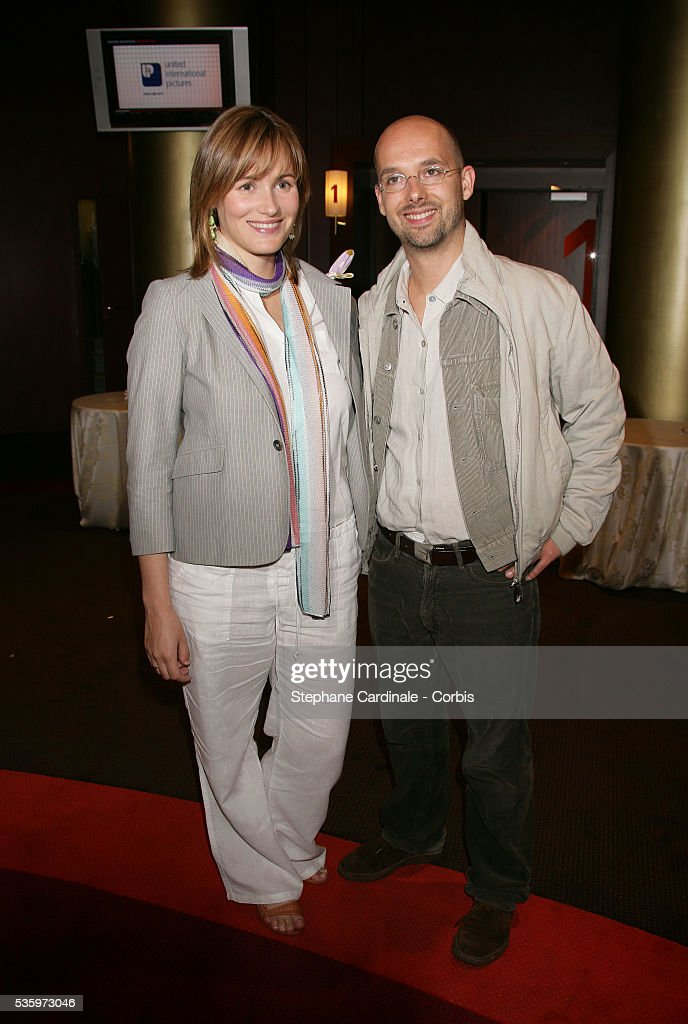 Judith Godreche and partner Maurice Barthelemy attend the premiere of 'Papa' in Paris.