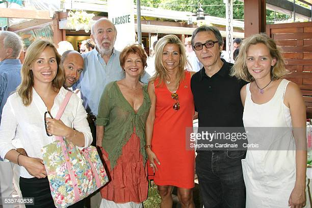 Judith Godreche Maurice Barthelemy JP Marielle with his wife Natty Belmondo Richard Berry and Claire Borotra