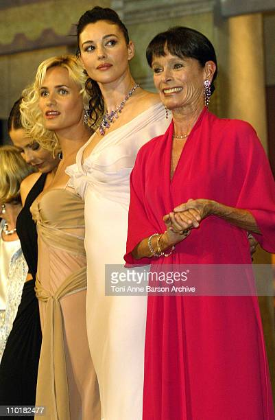Judith Godreche Monica Bellucci and Geraldine Chaplin wearing jewelry by Chopard