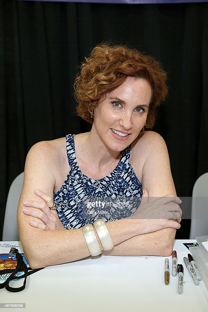 Judith Hoag poses in between meeting with fans during the Alamo City Comic Con at Henry B. Gonzalez Convention Center on September 12, 2015 in San Antonio, Texas.
