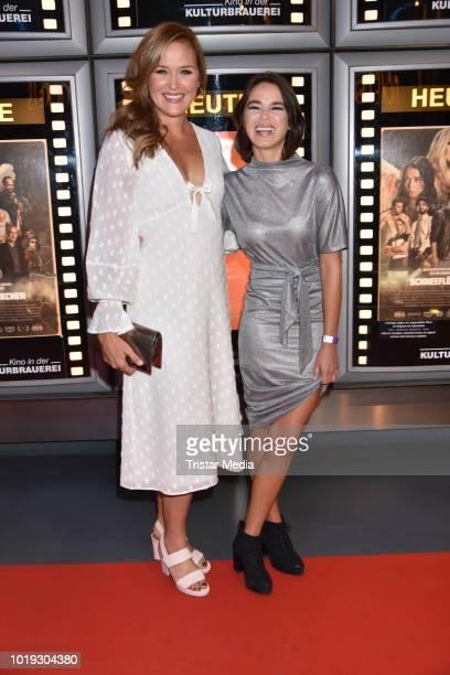 Judith Hoersch and Xenia Assenza during the 'Schneefloeckchen' Premiere at Kino in der Kulturbrauerei on August 18, 2018 in Berlin, Germany.