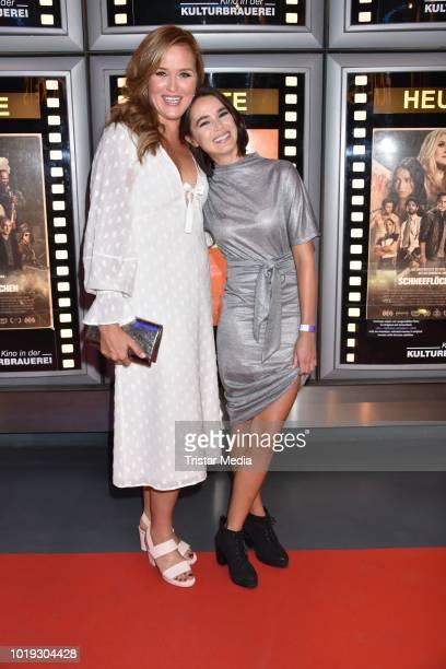 Judith Hoersch and Xenia Assenza during the 'Schneefloeckchen' Premiere at Kino in der Kulturbrauerei on August 18 2018 in Berlin Germany