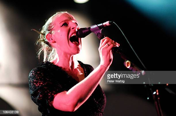 Judith Holofernes of Wir Sind Helden performs on stage at the EWerk on October 31 2010 in Cologne Germany