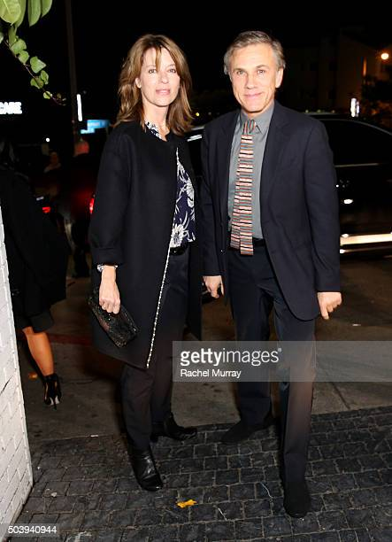 Judith Holste and Christoph Waltz attend the W Magazine celebration of the 'Best Performances' Portfolio and The Golden Globes with Audi and Dom...