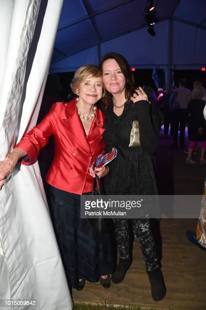 Judith Hope Twomey and Nissa Hope attend the Guild Hall Summer Gala 2018 at Guild Hall on August 10 2018 in East Hampton New York