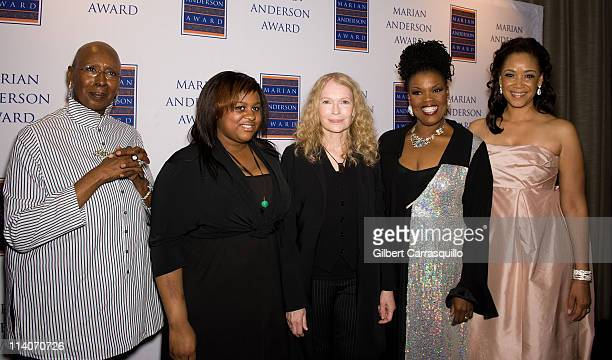 Judith Jamison former artistic director of Alvin Ailey American Dance Theater Quincy Farrow Mia Farrow soprano Angela Brown and Pamela Browner White...