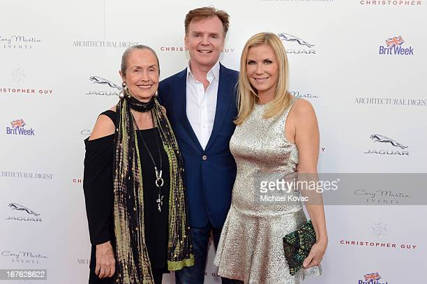 Judith Lang designer Christopher Guy and actress Katherine Kelly Lang attend the BritWeek Christopher Guy event with official vehicle sponsor Jaguar...