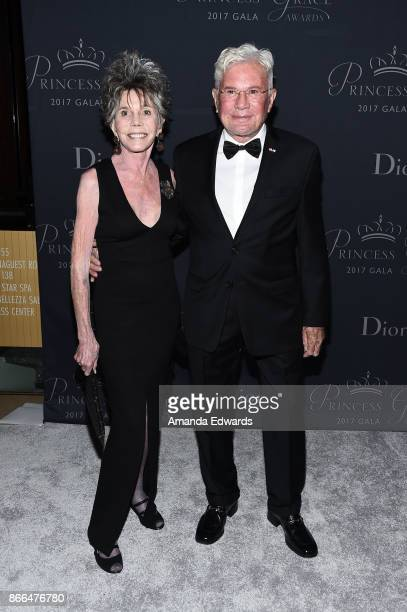 Judith Lawrence and PGFUSA Arts Board Advisory Boardmember Gary L Pudney arrive at the 2017 Princess Grace Awards Gala at The Beverly Hilton Hotel on...