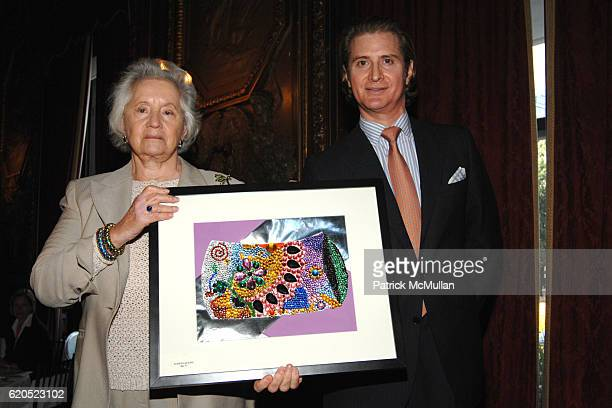 Judith Leiber and Eric Javits attend Madison Square Boys Girls Club Purses Pursenalities Luncheon at The Metropolitan Club on September 23 2008 in...