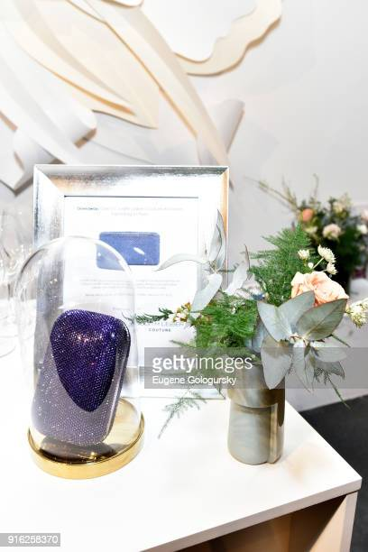 Judith Leiber Couture Airstream hand bag in Plum on display during Papyrus and Judith Leiber host Breakfast Mimosas at IMG NYFW The Shows at Spring...