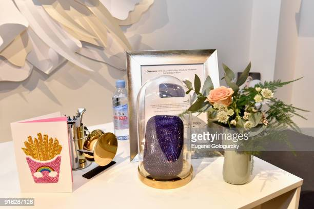 Judith Leiber Couture Airstream hand bag in Plum on display during IMG NYFW The Shows at Spring Studios on February 9 2018 in New York City