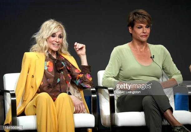 Judith Light and Alexandra Billings of 'Transparent' speak onstage during the Amazon Prime Video segment of the Summer 2019 Television Critics...