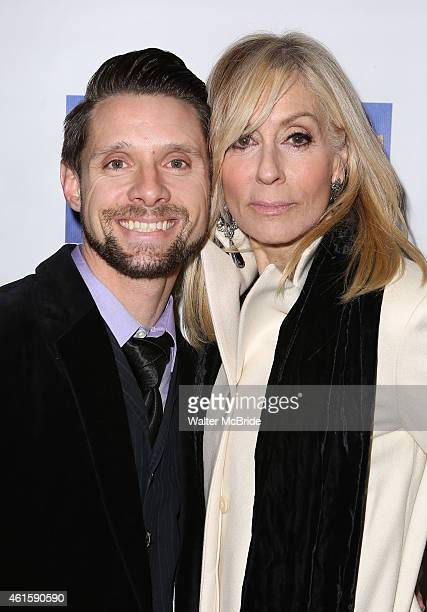 Judith Light and Danny Pintauro attend the Broadway Opening Night Performance of Honeymoon in Vegas at the Nederlander Theatre on January 15 2015 in...