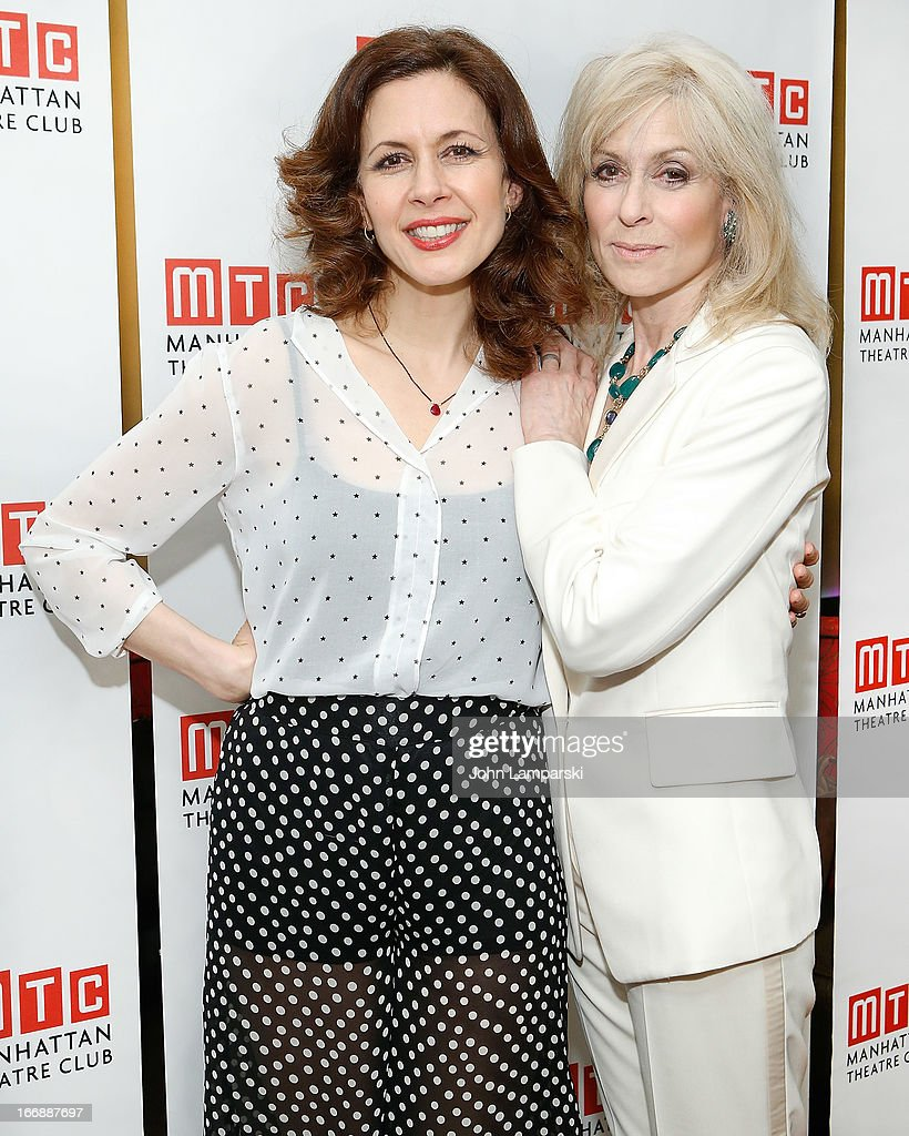 Judith Light and Jessica Hecht attend 'The Assembled Parties' Broadway Opening Night after party at the Copacabana on April 17, 2013 in New York City.