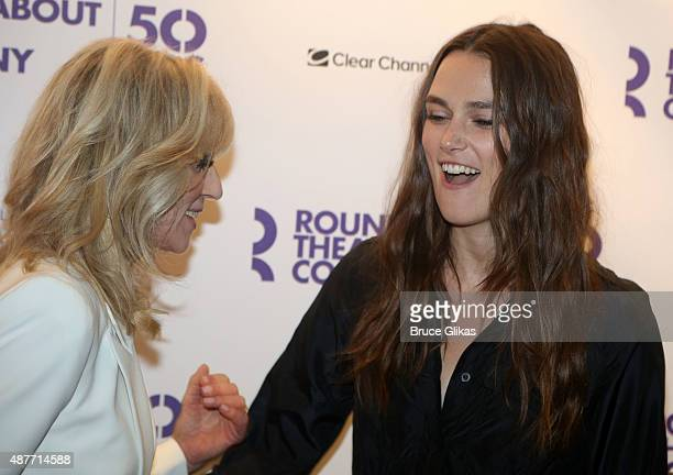 Judith Light and Keira Knightley at the Roundabout Theater Company's 50th Anniversary Season Party at The American Airlines Theater Penthouse on...