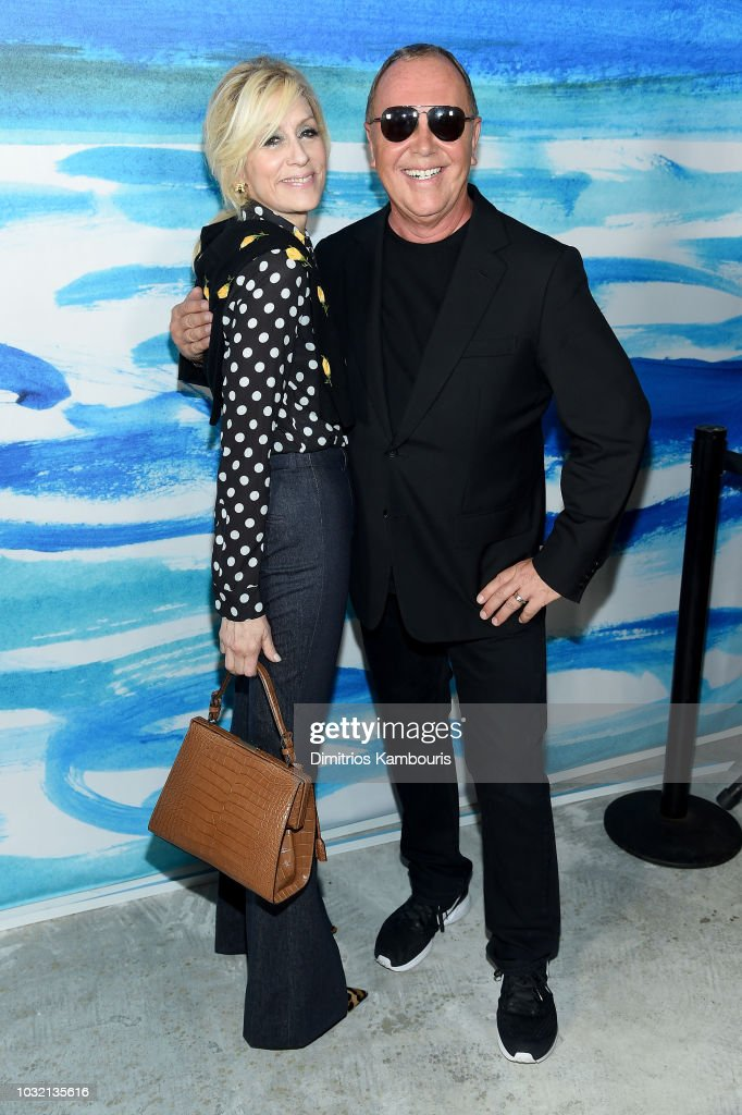 Judith Light (L) and Michael Kors pose backstage during the Michael Kors Collection Spring 2019 Runway Show at Pier 17 on September 12, 2018 in New York City.