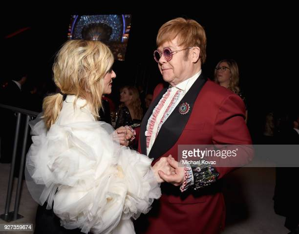 Judith Light and Sir Elton John attend the 26th annual Elton John AIDS Foundation Academy Awards Viewing Party sponsored by Bulgari celebrating EJAF...