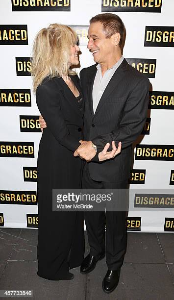 Judith Light and Tony Danza attend the Broadway Opening Night performance of 'Disgraced' at the Lyceum Theatre on October 23 2014 in New York City