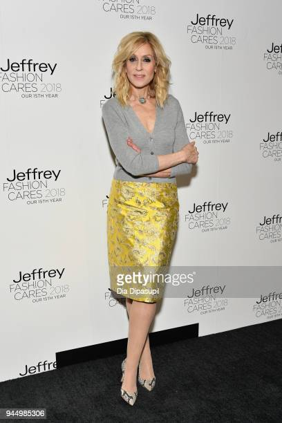 Judith Light attends the 15th annual Jeffrey Fashion Cares Fashion Show and Fundraiser at Intrepid SeaAirSpace Museum on April 11 2018 in New York...