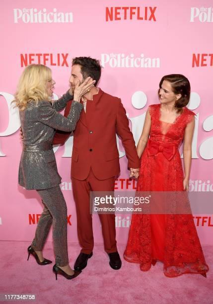 Judith Light Ben Platt and Zoey Deutch attend Netflix's The Politician Season One Premiere at DGA Theater on September 26 2019 in New York City