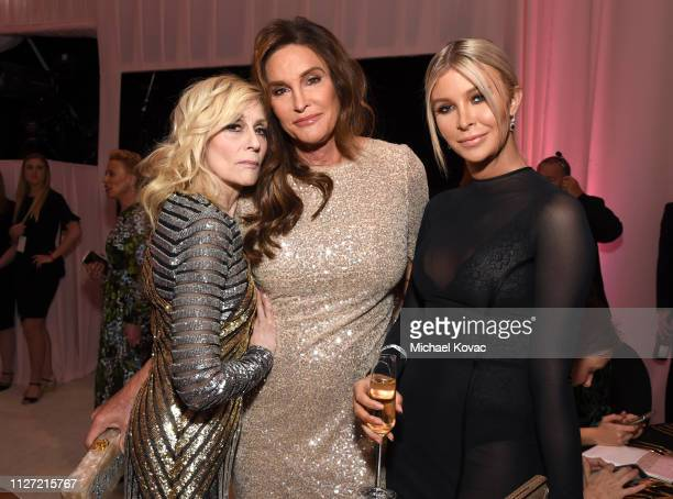 Judith Light Caitlyn Jenner and Sophia Hutchins attend the 27th annual Elton John AIDS Foundation Academy Awards Viewing Party sponsored by IMDb and...