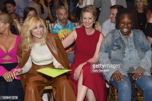 Judith Light Cynthia Nixon and Whoopi Goldberg attend the Christian Siriano Fashion Show during New York Fashion Week at Gotham Hall on September 8...