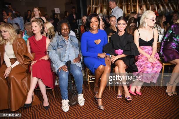 Judith Light Cynthia Nixon Whoopi Goldberg Tiffany Haddish Sarah Hyland and Kim Petras attend Christian Siriano Front Row during New York Fashion...