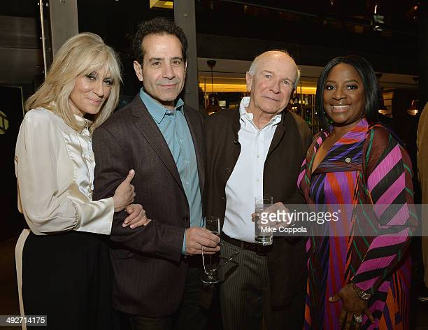 Judith Light Tony Shalhoub Terrence McNally and LaTanya Richardson Jackson attend the 2014 Tony Nominees' Luncheon at the Paramount Hotel's Diamond...