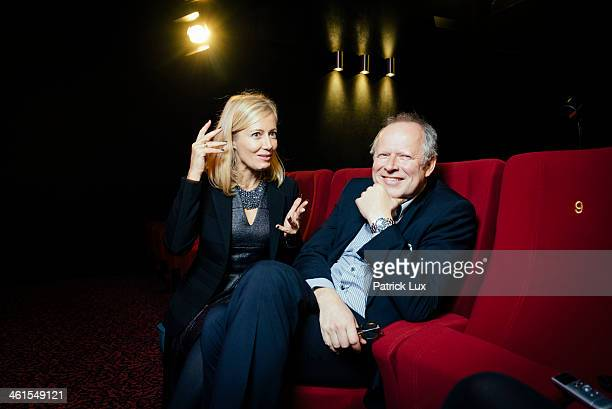 Judith Milberg and Axel Milberg pose during a photo session on December 4 2013 in Kiel Germany