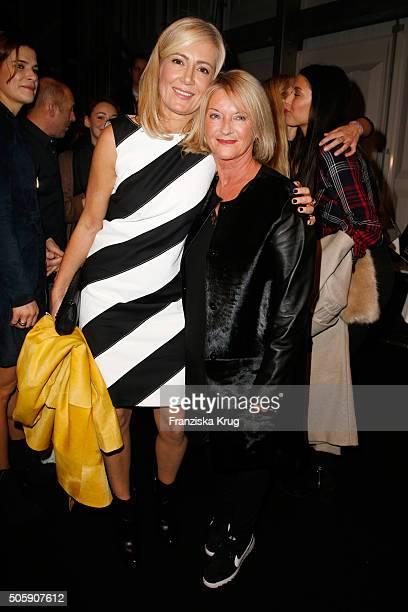 Judith Milberg and Elisabeth Schwaiger attend the Laurel show during the MercedesBenz Fashion Week Berlin Autumn/Winter 2016 at Brandenburg Gate on...