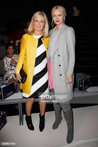 Judith Milberg and Franziska Knuppe attend the Laurel show during the MercedesBenz Fashion Week Berlin Autumn/Winter 2016 at Brandenburg Gate on...