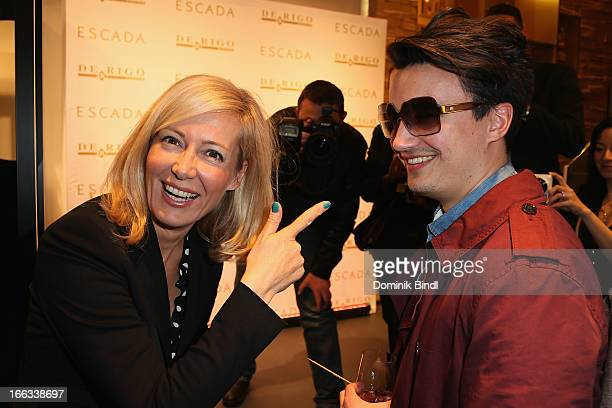Judith Milberg and Julius Betzler attend the Escada and De Rigo Vision Eyewear Design Contest Cocktail on April 11 2013 in Munich Germany