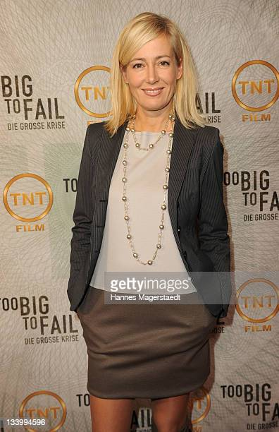 Judith Milberg attends 'Too Big to Fail' preview screening of German Pay TV channel TNT Film at Mathaeser Filmpalast on November 23 2011 in Munich...