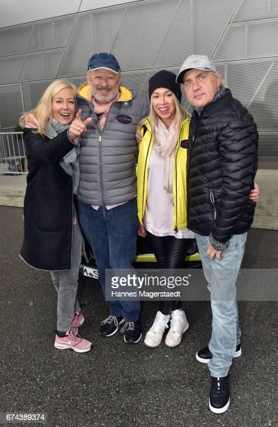 Judith Milberg, Axel Milberg, Uwe Ochsenknecht and his girlfriend Kirsten Kiki Viebrock before the ArabellaClassics Route 2017 starts at BMW World on...