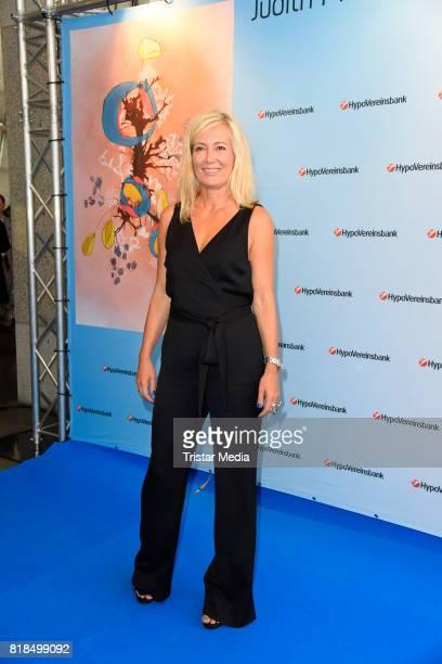 Judith Milberg during her exhibition opening 'Judith Milberg Aus der Mitte' at HypoVereinsbank Charlottenburg on July 18 2017 in Berlin Germany